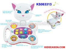 Fumetto gatto educativi per bambini musicale giocattoli di apprendimento& riconoscere giocattoli
