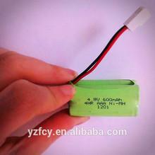4.8v 600mah ni-mh aaa battery pack/ battery packs 4.8v nimh