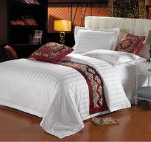 100% cotton luxury 60S white cotton satin bed linen factory direct wholesale