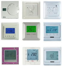 Tunch screen period programming underfloor heating thermostat for EU market