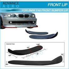 FOR 1999 -2004 BMW E46 325 328 3 SERIES 2PCS FRONT BUMPER LIP SPOILER PU BODY KIT POLY URETHANE