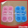 Flor em forma de bolo moldes, disponível em várias cores e desenhos, a família para o uso de microondas