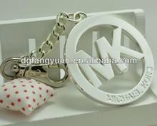 New design round mk handbag metal tags