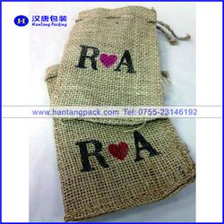Eco-friendly packing mini jute bags wholesale,custom printed jute bags,small jute bag