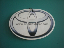 Custom car logo Toyota paper car air freshener