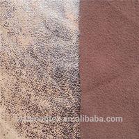 polyester bronzed suede fabric bonded polar fleece