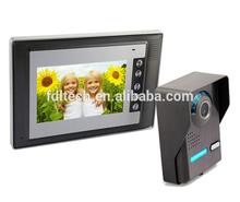 Hot selling 7''color wired video door bell,4 wire video intercom doorbell,2-way unlocking