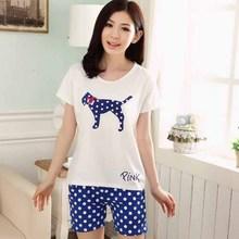 n17024 popular de moda pijama verano venta al por mayor de china establece la mujer corto casual para damas ropa de dormir