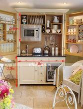 2014 Customized kitchen cupboards for modern style small Kitchenette mini kitchen