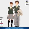 La parte superior de la marca medio uniformesescolares, suéter de la escuela diseños, estudiante de chaleco de punto, x048