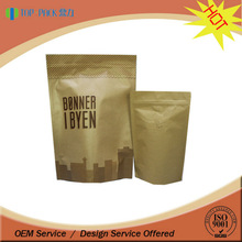 custom printing food grade material bag pouch paper bag for flour packaging / kraft paper bags with valve