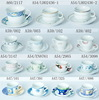 Haonai M-10500 ceramic/stoneware cheap cups and saucers with your design