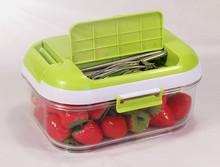 Microwaveable PC Plastic Vacuum Pump Food Container KL-1500