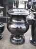 vase for grave stone