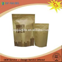 custom printing food grade material bag pouch waterproof paper bag / kraft paper bags with valve