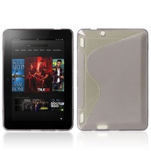 S Line simple TPU Soft Gel Rubber Back Cover Mobile phone Cases for Amazon Kindle Fire HDX7