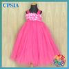 Fashion Flower Girl Dress Wholesale Children's Boutique Clothing Hot Pink Layers Tutus Kids Girls Evening Dresses
