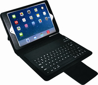 PU Leather Tablet PC Bluetooth Keyboard Case for iPad Mini 2 for iPad Mini