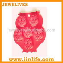 Fancy animal shaped mini ice cube silicone molds owls