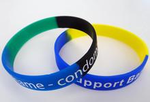 custom making promotional silicone bracelets canada free shipping