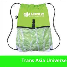Hot Selling mesh nylon drawstring swim bag