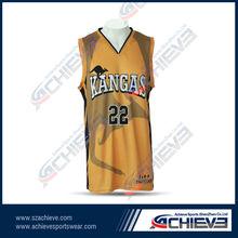 sublimation custom sportswear reversible basketball short