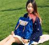 Korean cute beautiful lace laptop school backpack pattern