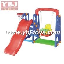 Children Exciting Amusement Park Plastic Kids Swing And Slide