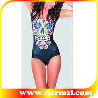 Sexy young girls black and double push up high waist fashion bikini swimwear