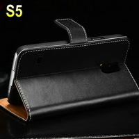 PU Leather New Factory Supplier Clutch Wallet Hard Case for Samsung S5 Wallet Case
