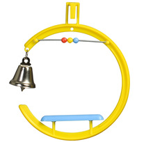 G Swing with Bell Plastic Parrot Toy