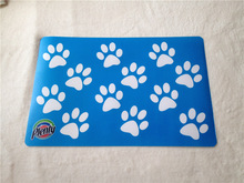 Plenty brand Paw printing claw printed pet food mat/waterproof dog nutrition pad
