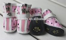 stylish PU leather pet dog shoes dog boots pet products wholesale