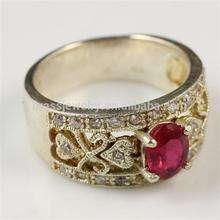 Yiwu Beautiful Brass Zircon 18k Fake Gold Jewelry
