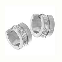 Classical design matt finish surface 7*13mm unisex jewelry stainless steel hippies earrings making earings odd earrings LE2106