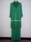 Factory offer Wholesale price small MOQ high level OEM brands muslim women formal deading suit dress baju Arabic slim in sets