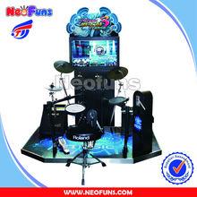 "2014 Funny!l32""LCD Jazz hero arcade drum game machine /simulator real shot drum game"