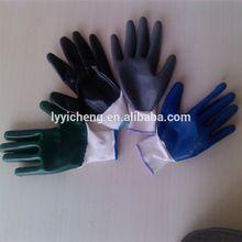 nitrile coated work glove/micro foam nitrile coated gloves