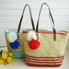 fresh 2014 new female bag single shoulder bag handbag beach bag and straw summer beach bag