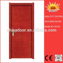 New mould glass panel wooden door SC-W103
