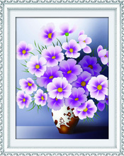 DIY crystal diamond painting beautiful flower vase painting designs for wall deco