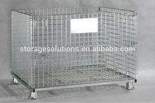 Warehouse foldable steel metal storage cage