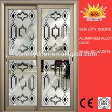 Economic double leaf sliding mini sliding door cabinets SC-AAD079