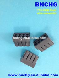 dark black wago 8-conductor terminal block with conductive paste