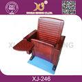 2014 o mais novo de madeira cadeira do auditório, durável de madeira cadeira de igreja xj-246