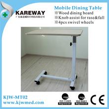 Adjustable hospital beside table