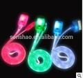 Cabo de luz led para iphone4