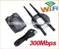High Power!USB Network Card Wireless Adapter 802.11N 300M 5dBi Two Antenna wifi LAN Adapter