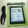 Green PVC Dry case waterproof tablet case for ipad case ,kindle,Nook,samsung,