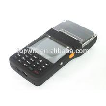 "Windows mobile 6.5 GSM / GPRS, GPS, Wi-Fi handheld PDA with 2"" thermal printer, RFID reader, barcode scanner"